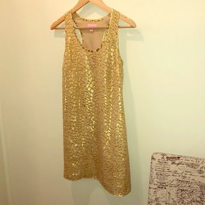 Gold Lily Pulitzer Dress